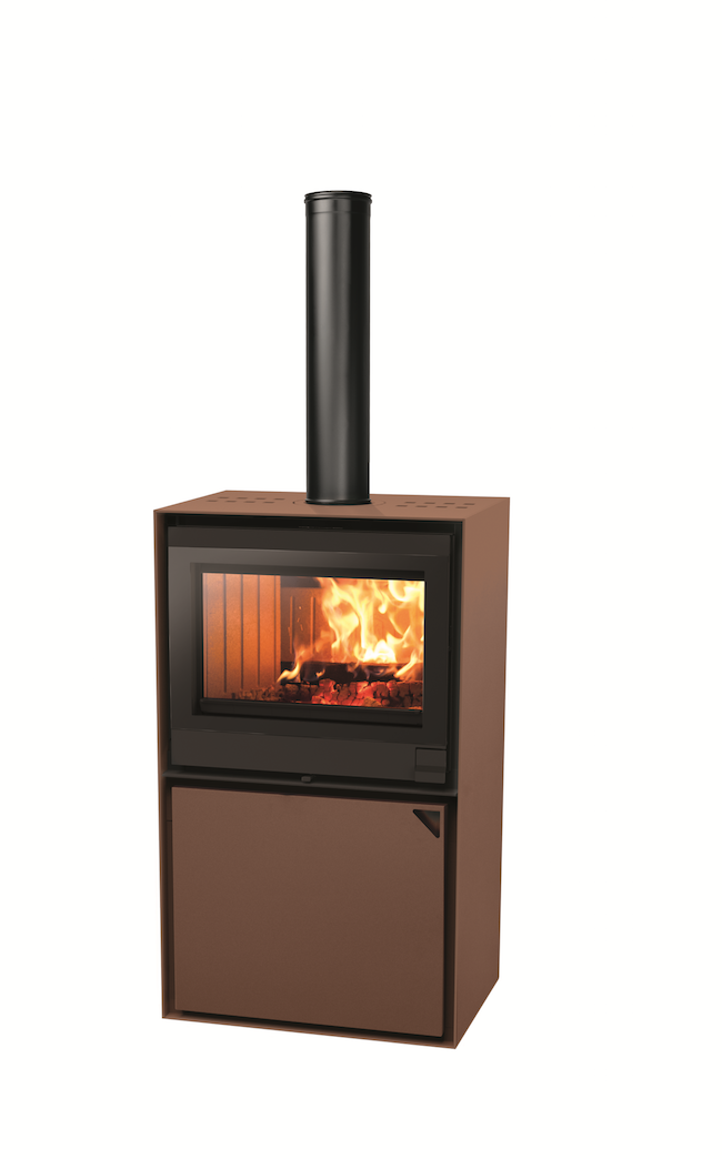 Thermopoêle air bois EASY 68 BASIC couleur corten