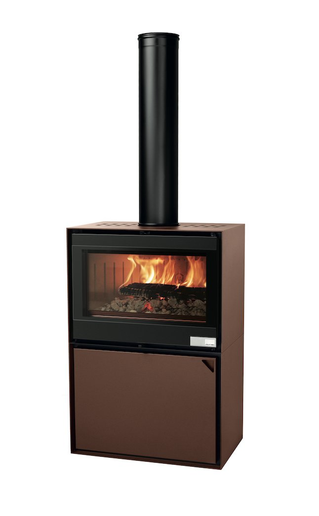 Thermopoêle air bois EASY 80 BASIC couleur corten