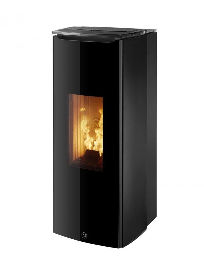 Thermopoêle air pellets ODETTE couleur noir