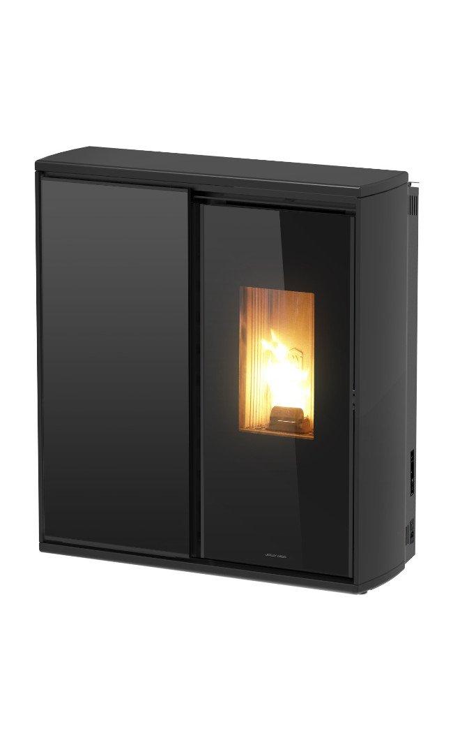 Thermopoêle air bois/pellets REVERSE couleur noir